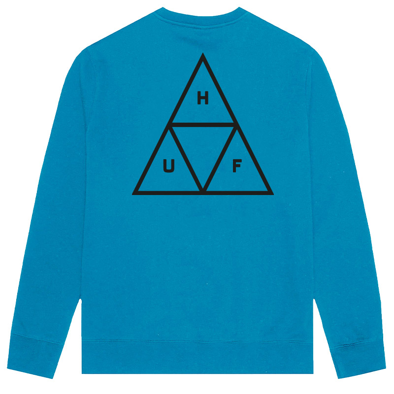 HUF Essentials Tt Crewneck Sweater Marina