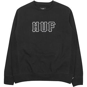 HUF Field Crewneck Sweater Black