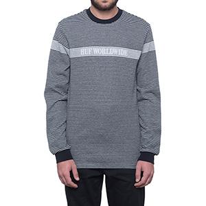 HUF Latitude Crewneck Sweater Black