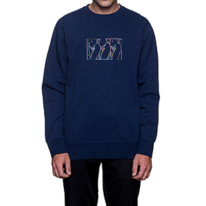 HUF Malibu Crewneck Sweater Navy