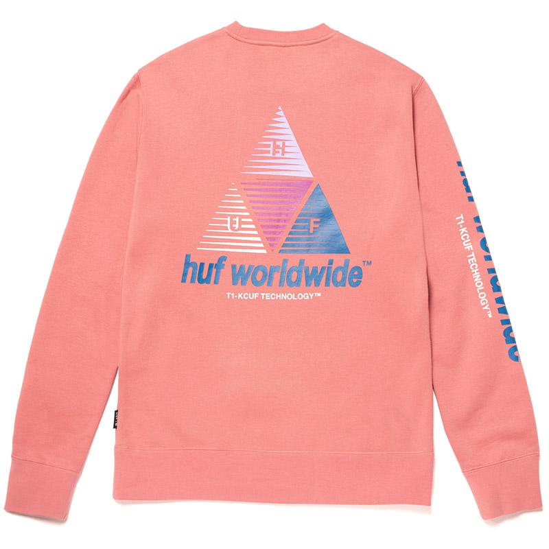 HUF Prism Crewneck Sweater Dusty Rose