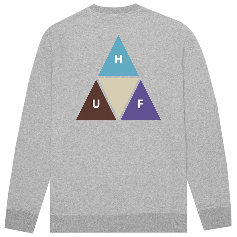 HUF Prism Trail Crewneck Sweater Grey Heather