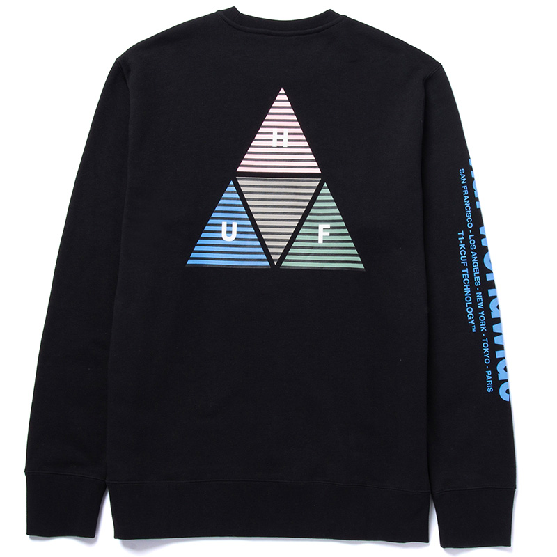 HUF Prism Tt Crewneck Sweater Black