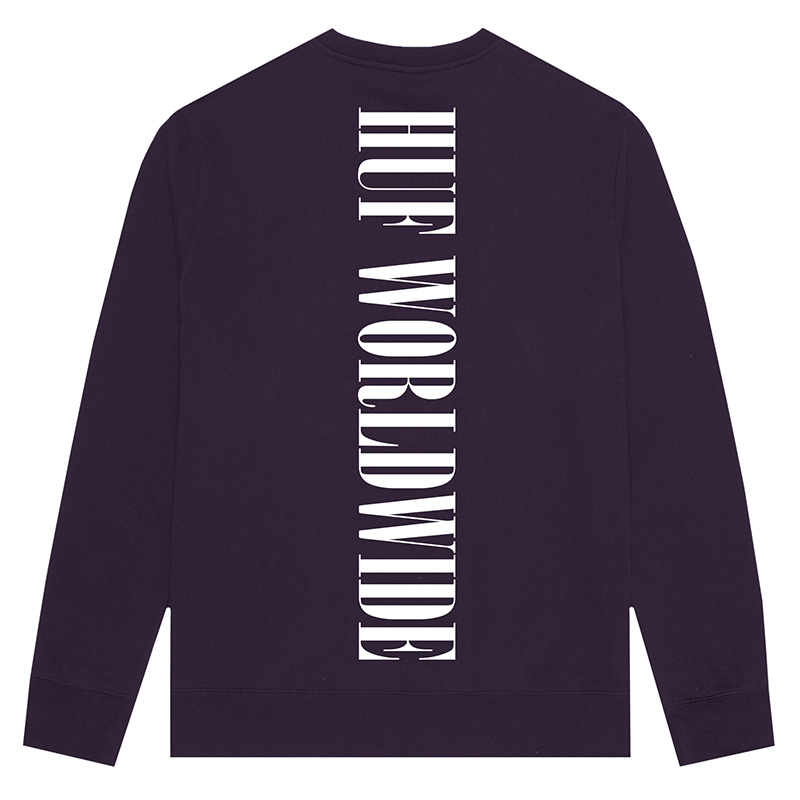 HUF Serif Crewneck Sweater Purple Velvet