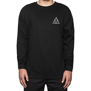 HUF Triple Triangle Crewneck Sweater Black