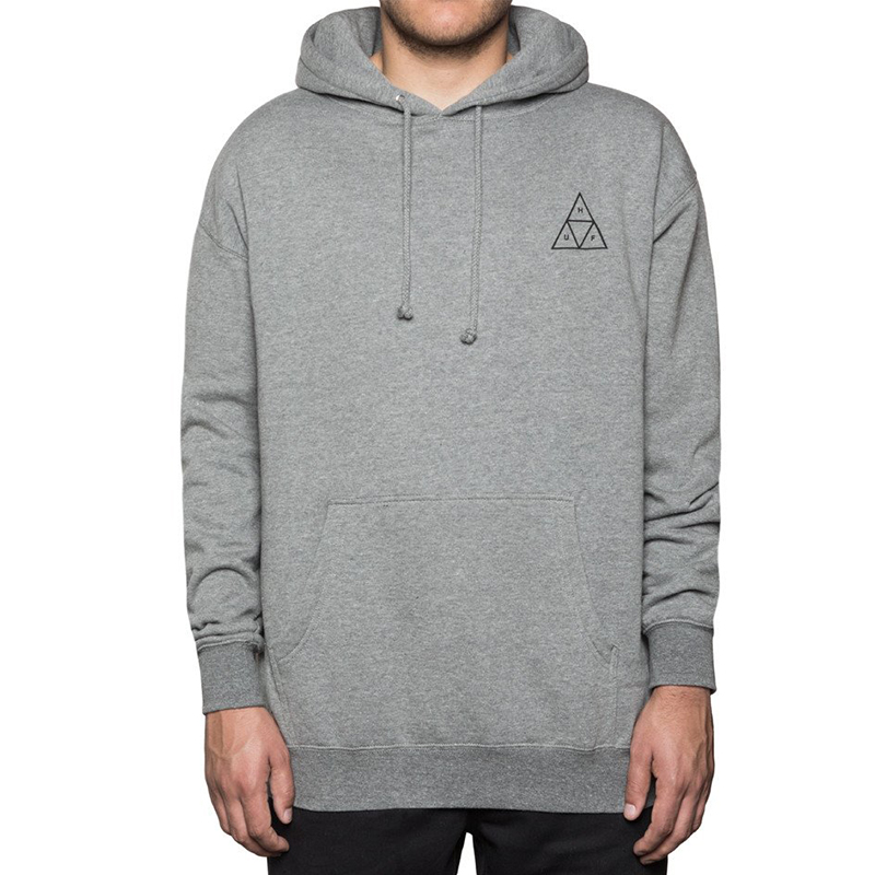 HUF Triple Triangle Pullover Fleece Grey Heather