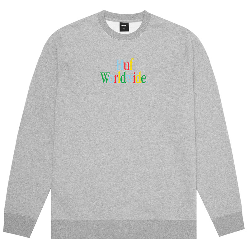 HUF Woz Crewneck Sweater Grey Heather