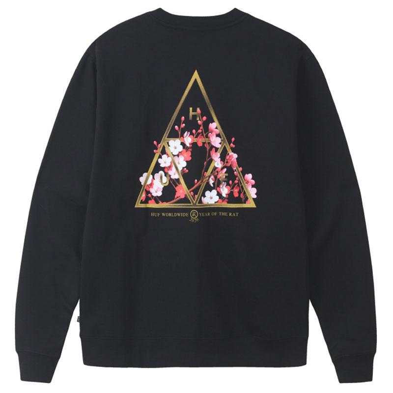 HUF Year Of The Rat Tt Crewneck Sweater Black
