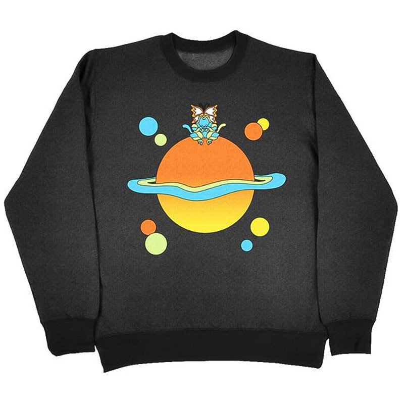 Leon Karssen Planet Crewneck Sweater Heathered Black