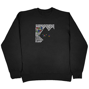 Leon Karssen Scribble Off Crewneck Sweater Black