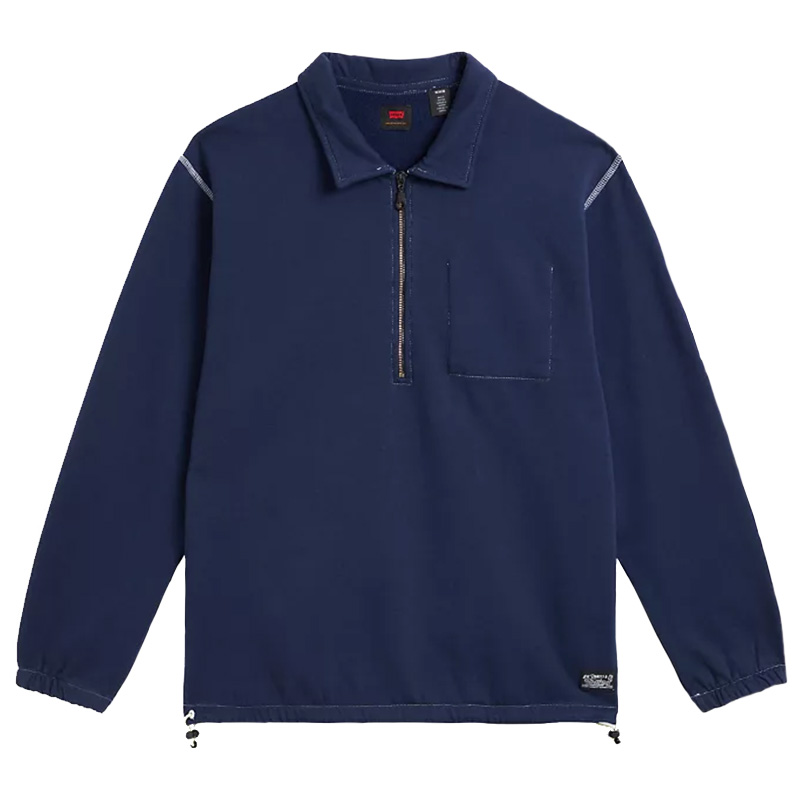 Levi's Skate Cinch Quarter Zip Sweater Navy/Blazer