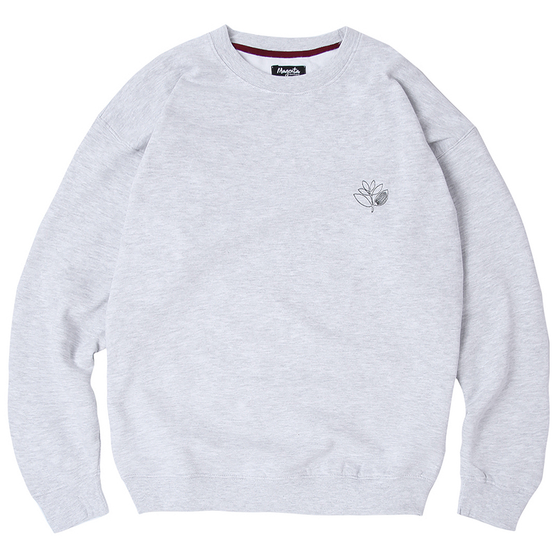 Magenta Outline Crewneck Sweater Ash