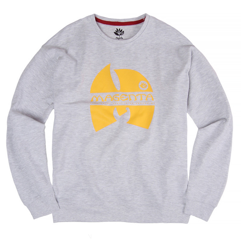 Magenta Wugenta Crewneck Sweater Heather Grey
