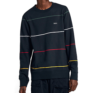 Nike SB Everet Stripe Sweater Obsidian/Red Crush