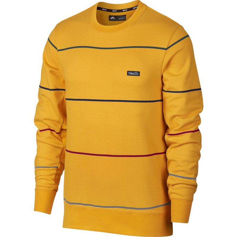 Nike SB Everet Stripe Sweater Yellow Ochre/Obsidian