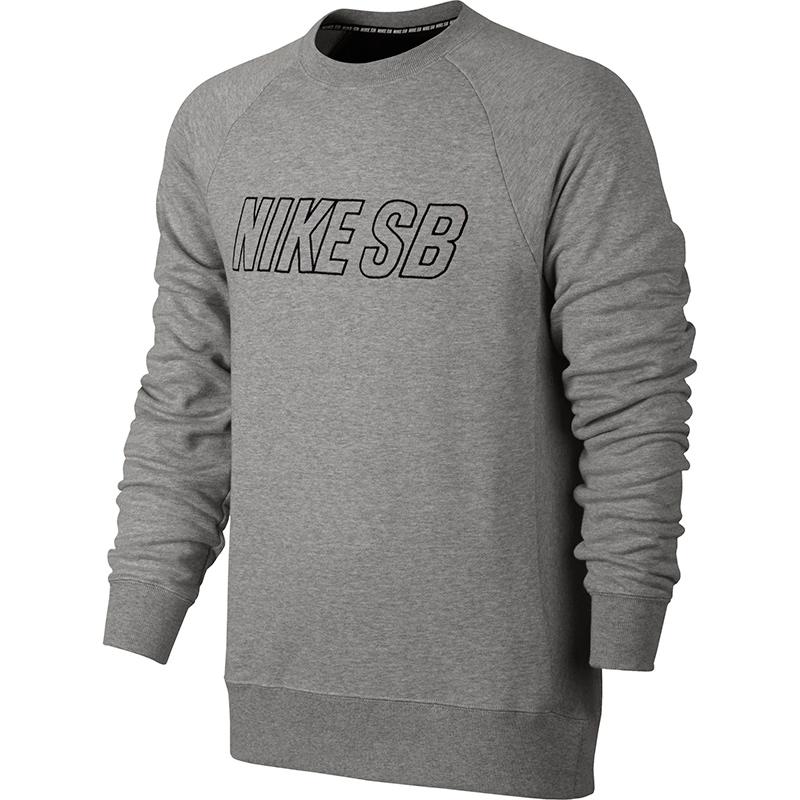 Nike SB Everett Reveal Crewneck Sweater Dark Grey Heather/Black