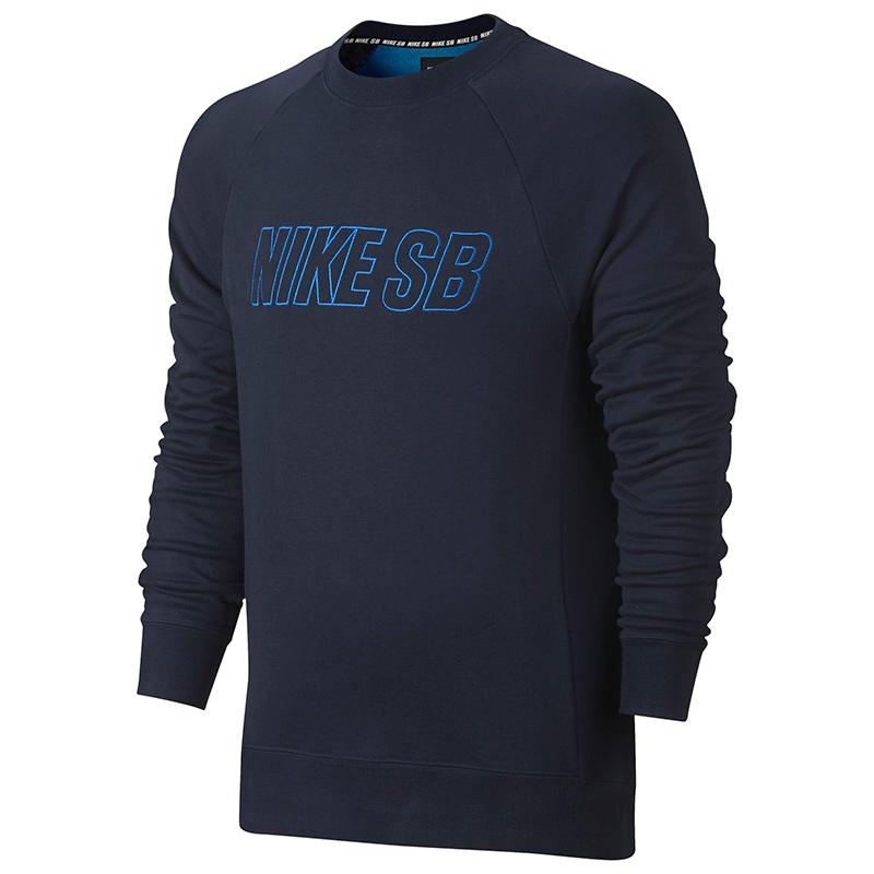 Nike SB Everett Reveal Crewneck Sweater Obsidian/Lt Photo Blue