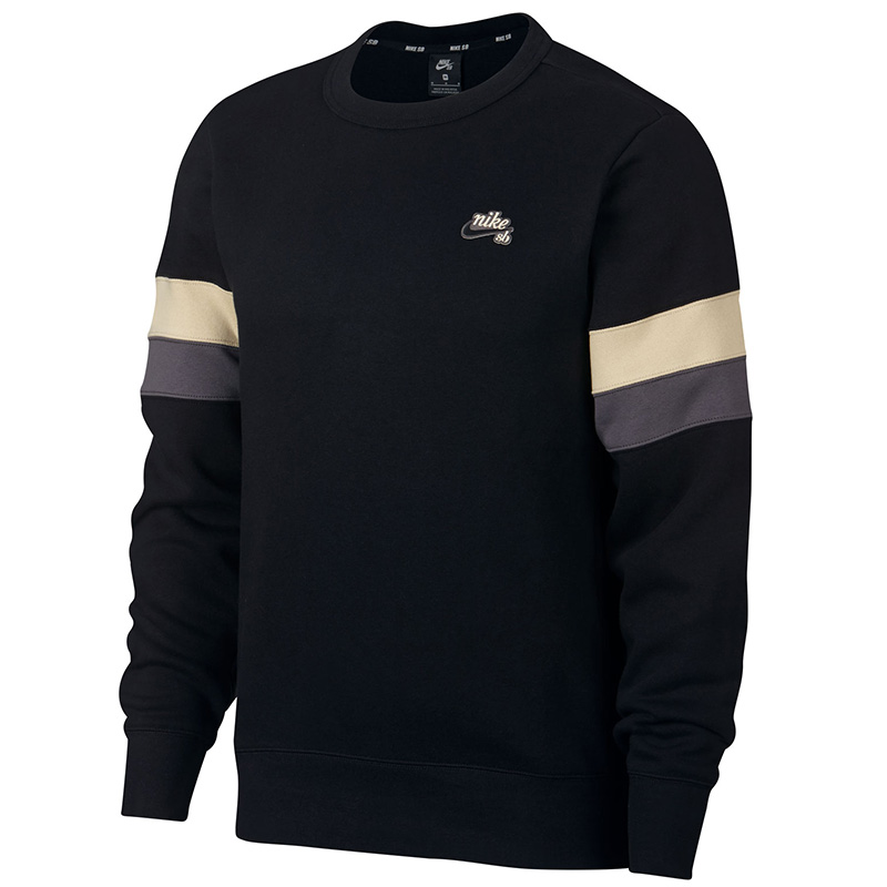 Nike SB Icon Crewneck Sweater Black/Desert Ore/Thunder Grey/Black