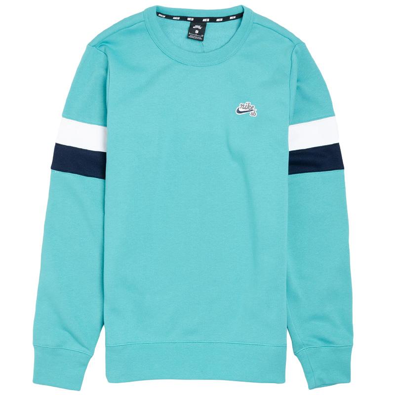 Nike SB Icon Crewneck Sweater Cabana/White/Obsidian/Obsidian