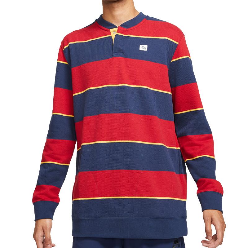 Nike SB Novelty Crewneck Sweater Midnight Navy/Gym Red/Pollen