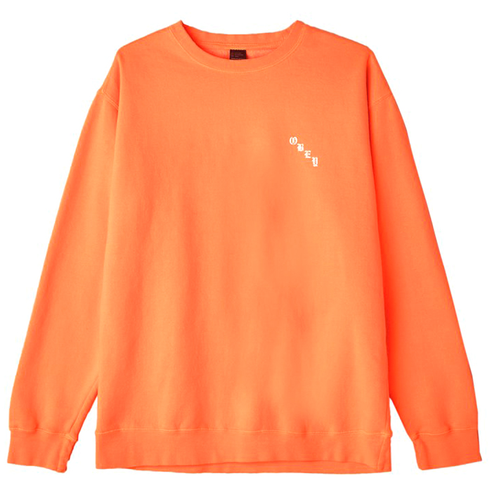 Obey 8 Ball Icon Crewneck Sweater Dusty orange