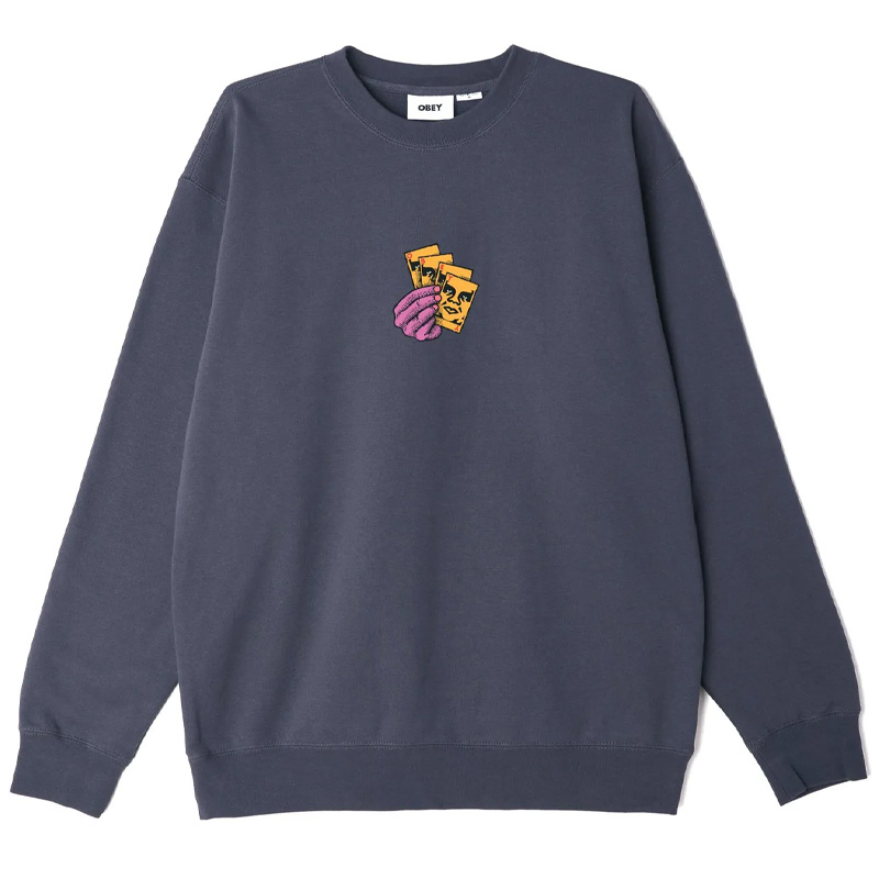 Obey All-in Crewneck Sweater French Navy