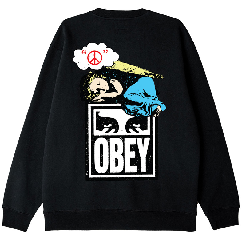 Obey Angel Crewneck Sweater Black
