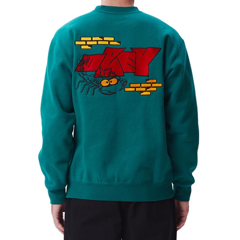 Obey Brick By Brick Crewneck Sweater Ivy