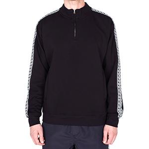 Obey Bridges Mock Neck Zip Sweater Black