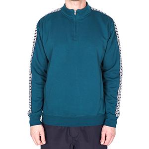 Obey Bridges Mock Neck Zip Sweater Dark Teal
