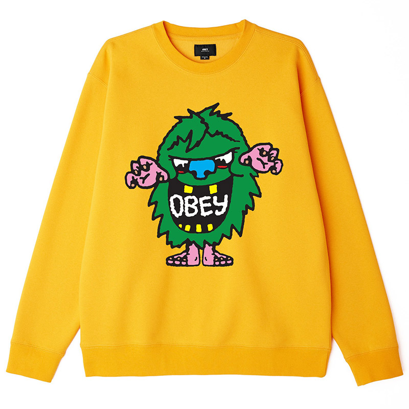 Obey Creech Crewneck Sweater Gold