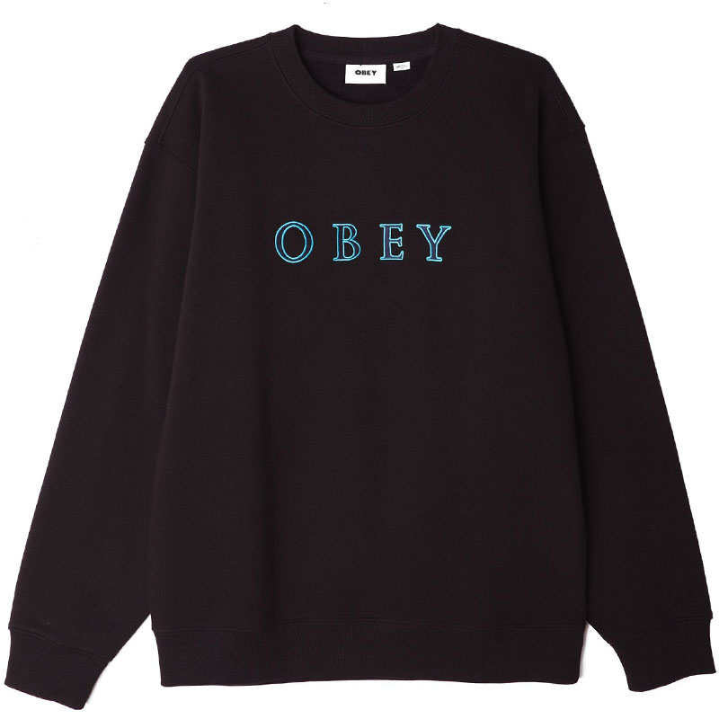 Obey Curtis Crewneck Sweater Black