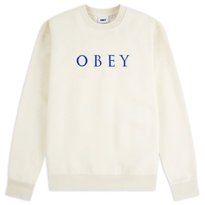 Obey Curtis Crewneck Sweater Natural