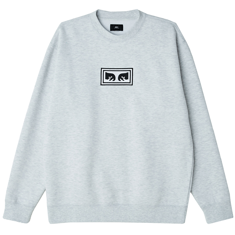 Obey Eyes Crewneck Sweater Ash Grey