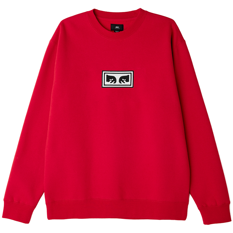 Obey Eyes Crewneck Sweater Red