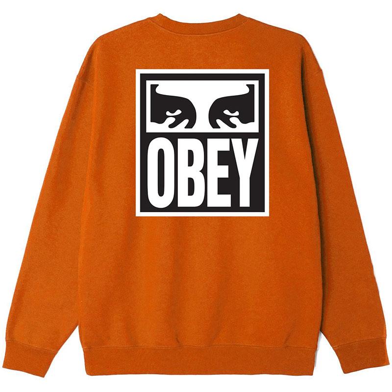 Obey Eyes Icon 2 Crewneck Sweater Pumpkin Spice