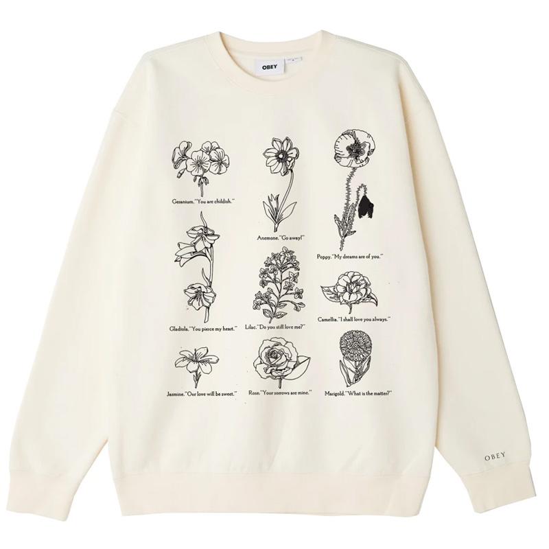 Obey Flower Packet Crewneck Sweater Sago