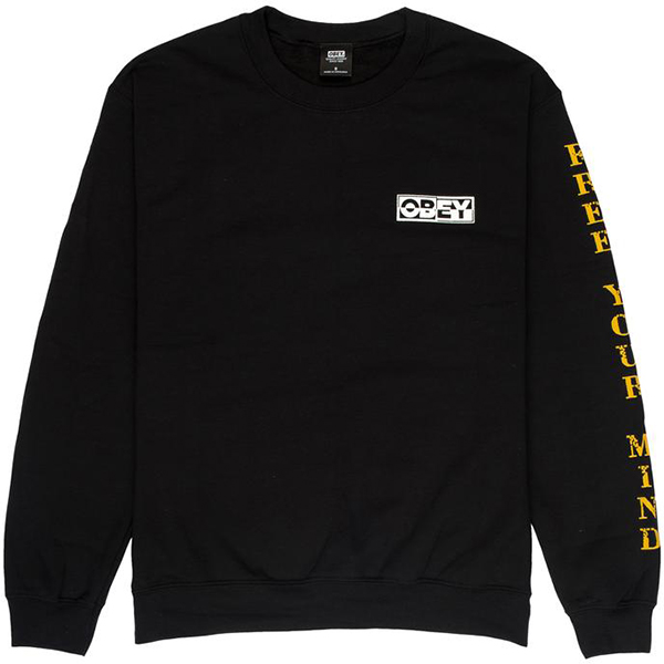 Obey Free Your Mind Crewneck Sweater Black