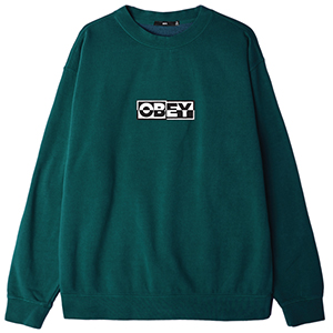 Obey Inside Out Sweater Dusty Pine