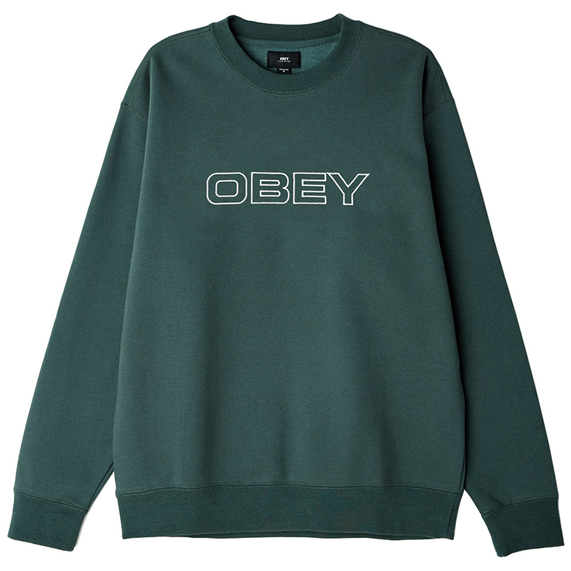 Obey Line Crewneck Sweater Alpine