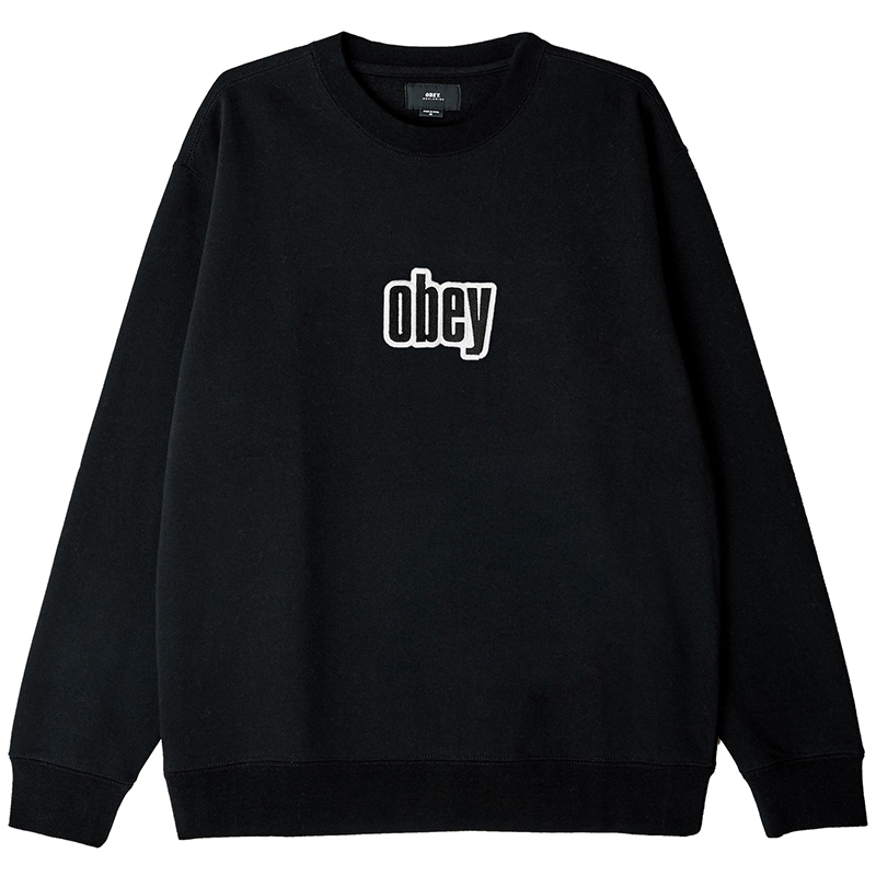 Obey Motion Crewneck Sweater Black