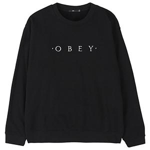 Obey Nouvelle Crewneck Sweater Black