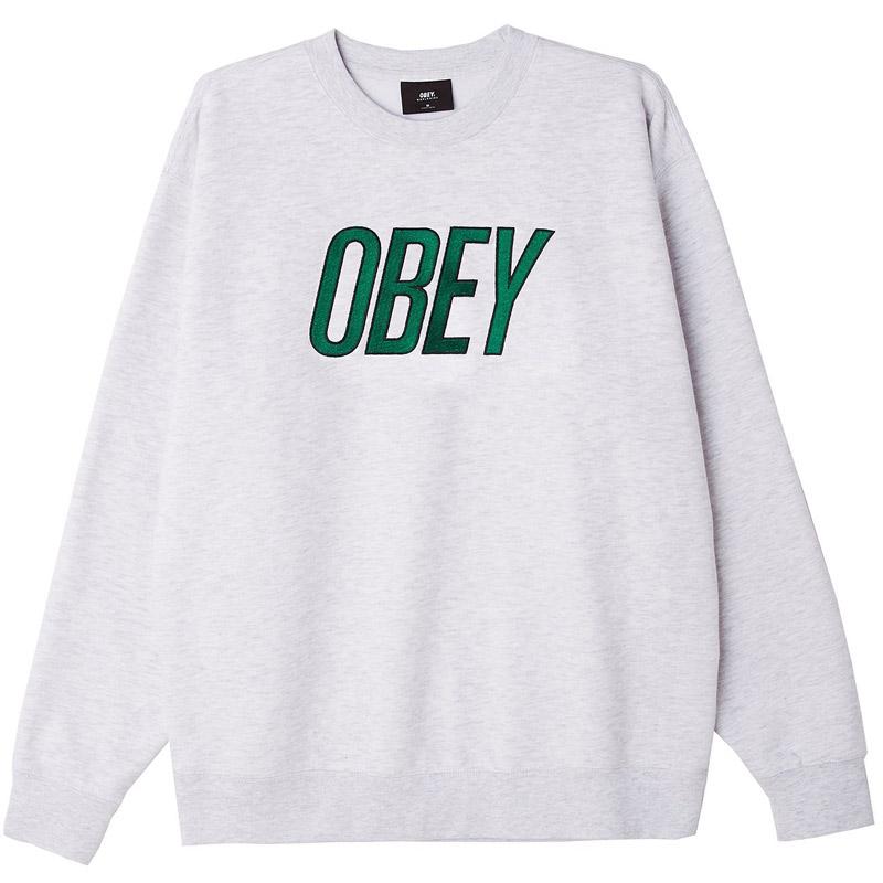 Obey Panic Crewneck Sweater Ash Grey