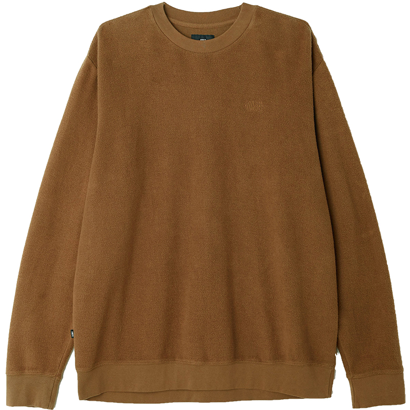 Obey Prospect Crewneck Sweater Army Brown