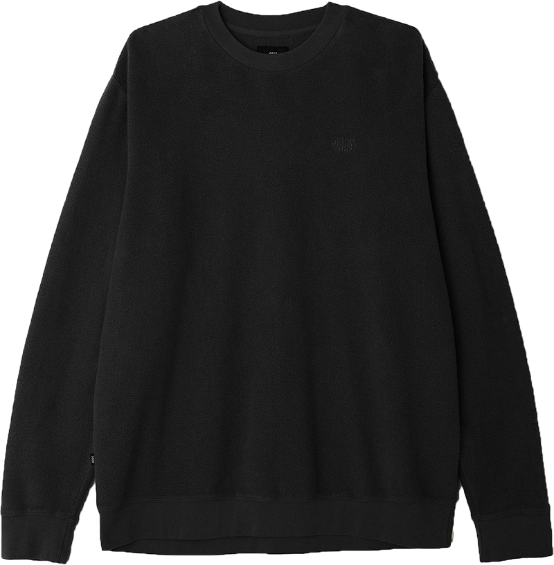 Obey Prospect Crewneck Sweater Faded Black