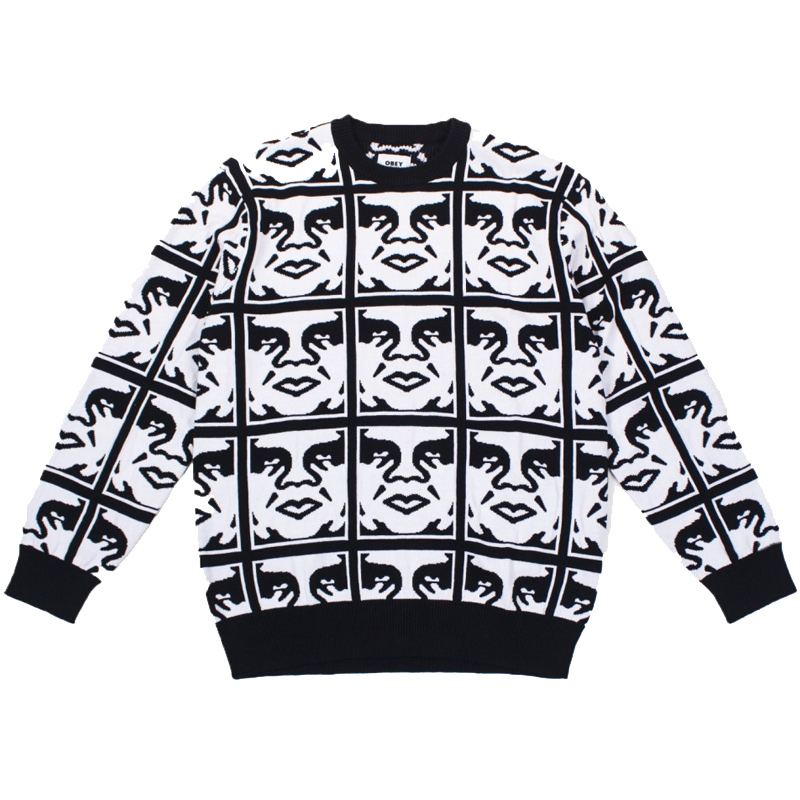 Obey Repeat Sweater Black Multi