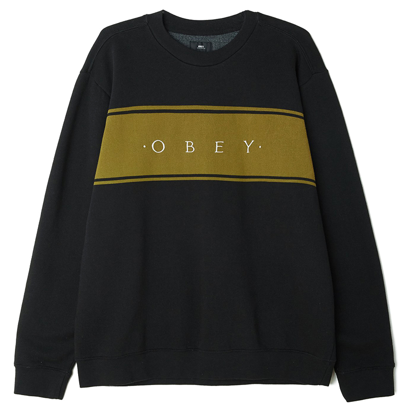 Obey Roebling Crewneck Sweater Black