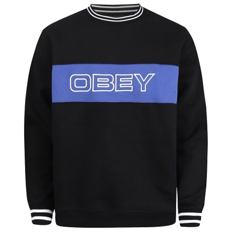 Obey Stand Crewneck Sweater Black