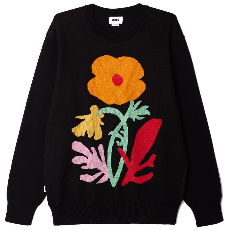 Obey Traces Sweater Black Multi