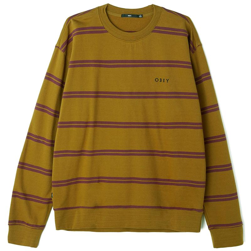Obey Turner Crewneck Sweater Tapenade multi
